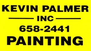 "Farmington Valley commuters pass the yellow ""Kevin Palmer Painting"" signs daily. The signs are our way of pointing out our beautiful, long-lasting, paint jobs and our total commitment to quality workmanship."